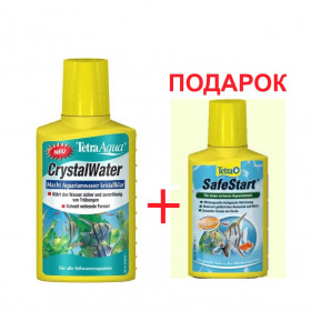 Tetra Aqua Crystal Water 250ml + Tetra Aqua Safe Start 100 мл Акция фото