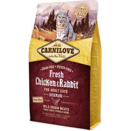 Корм для кошек Carnilove Cat Fresh Chicken & Rabbit Gourmand с курицей и кроликом, 0,4 кг, АКЦИЯ 1+1 фото