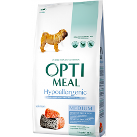 Гипоаллергенный корм с лососем для собак средних пород Optimeal Dog Adult Medium Hypoallergenic