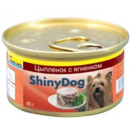Консервы для собак Gimborn Shiny Dog, с курицей и ягненком, 85г фото