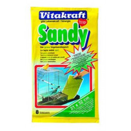 Подстилка в клетку Vitakraft Sandy для птиц, 21х32 (8шт). фото