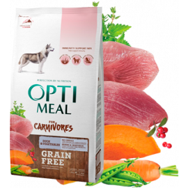 Сухой корм для собак Optimeal Dog Adult Grain Free Duck & Vegetables фото